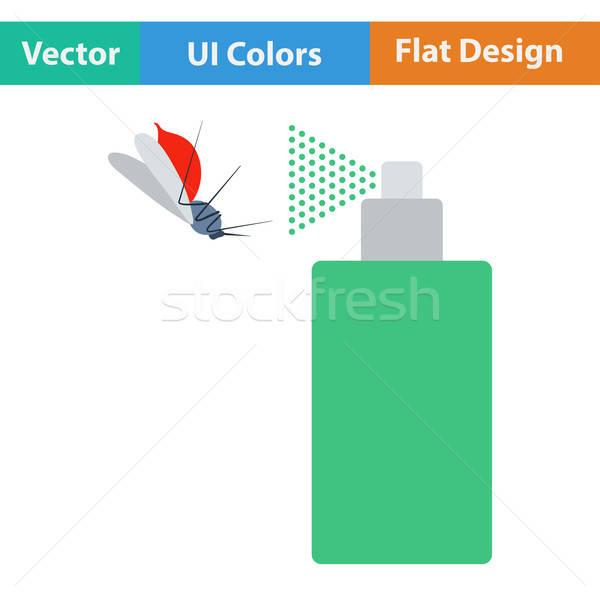 Design icona zanzara spray ui colori Foto d'archivio © angelp