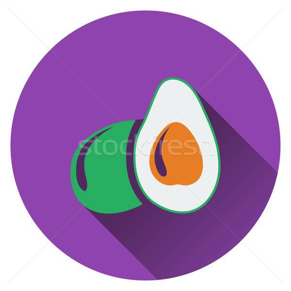 Avocado icona natura design salute segno Foto d'archivio © angelp