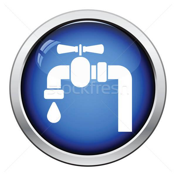 икона трубы клапан кнопки дизайна Сток-фото © angelp