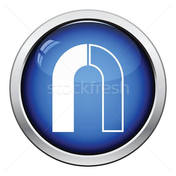 Stock fotó: Mágnes · ikon · fényes · gomb · terv · technológia