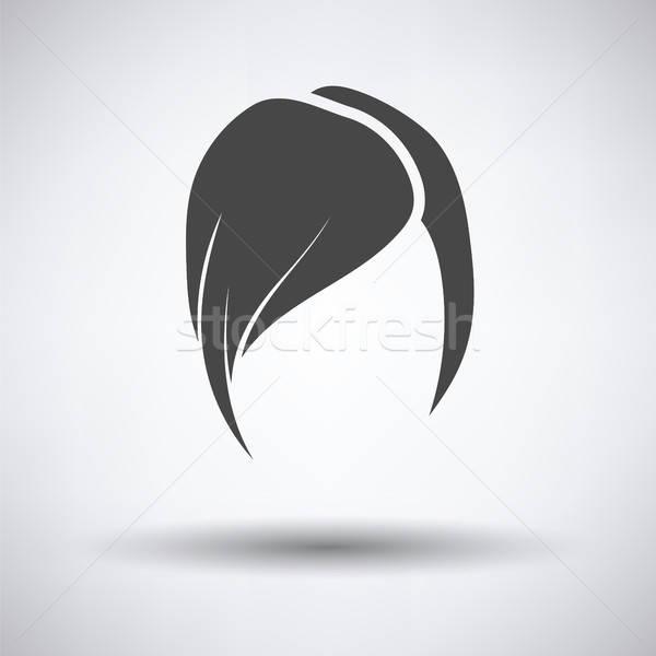Coiffure icône gris femme visage résumé Photo stock © angelp