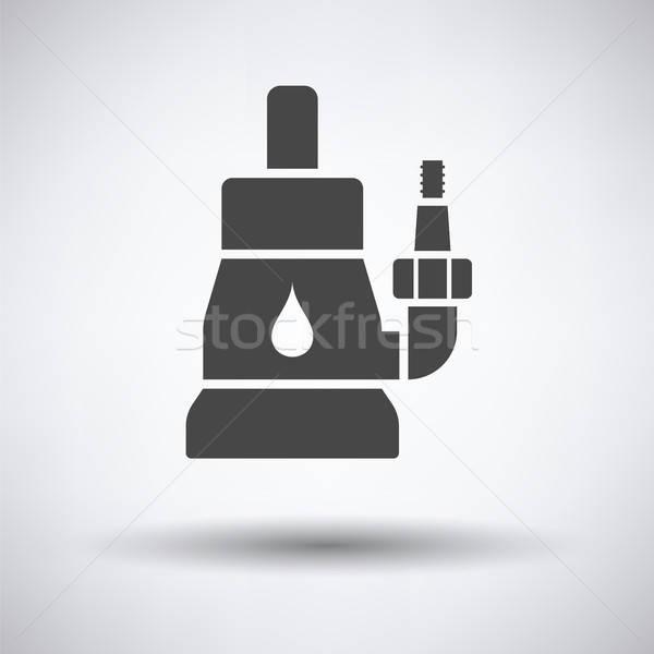 Su pompa ikon gri ev arka plan Stok fotoğraf © angelp