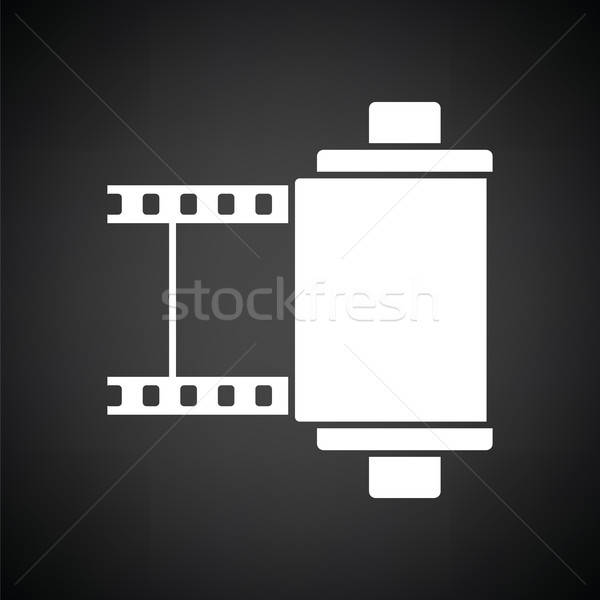 Photo cartridge reel icon Stock photo © angelp