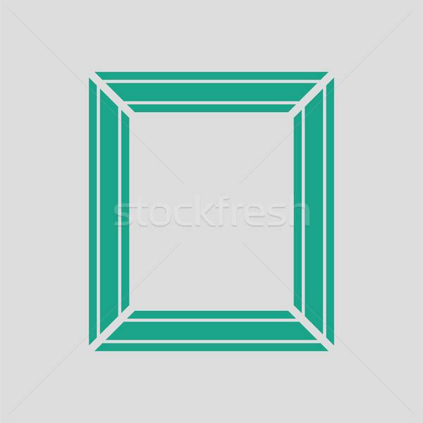 Quadro de imagem ícone cinza verde quadro espaço Foto stock © angelp