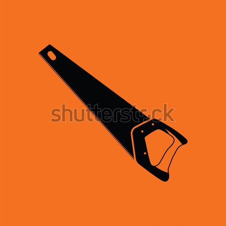 кемпинга топор икона оранжевый черный древесины Сток-фото © angelp