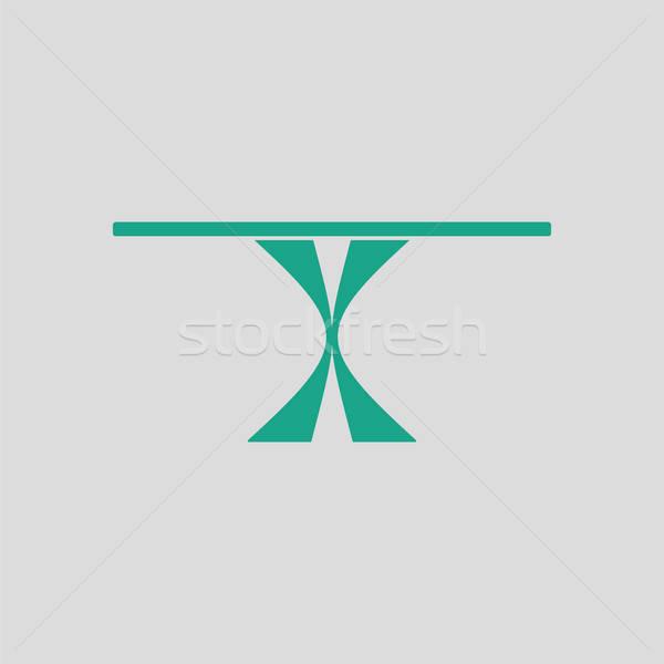 Yemek masası ikon gri yeşil mutfak tablo Stok fotoğraf © angelp