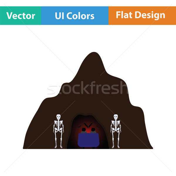 Scare cave icon Stock photo © angelp