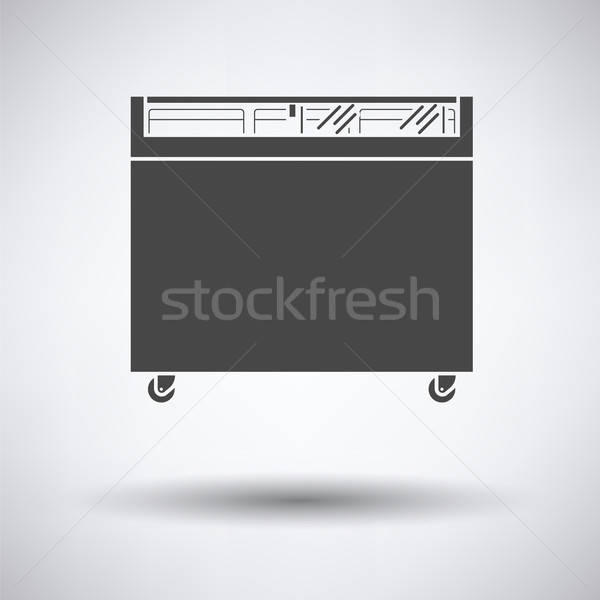Supermarkt mobiele vriezer icon grijs business Stockfoto © angelp