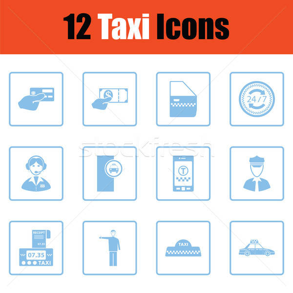Set of taxy icons Stock photo © angelp