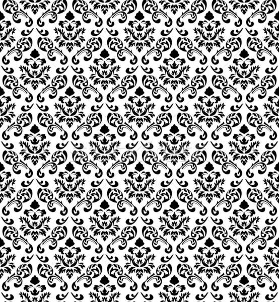 Adamaszek bezszwowy wektora wzór łatwe Zdjęcia stock © angelp