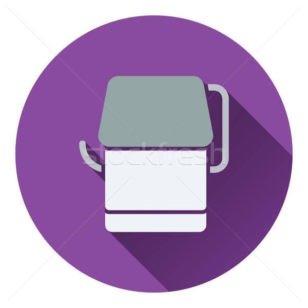 Carta igienica icona colore design segno bagno Foto d'archivio © angelp