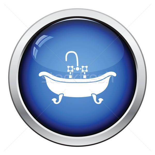 Bañera icono botón diseno agua Foto stock © angelp