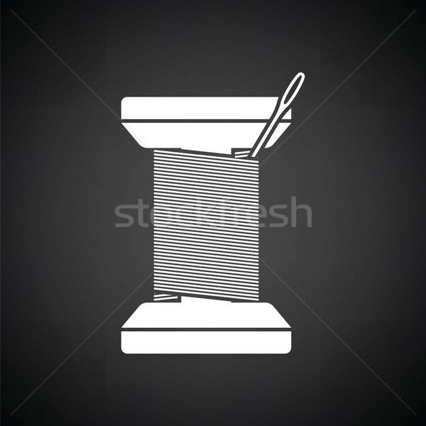 Sewing reel with thread icon Stock photo © angelp