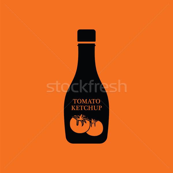 トマト ケチャップ アイコン オレンジ 黒 レストラン ストックフォト © angelp