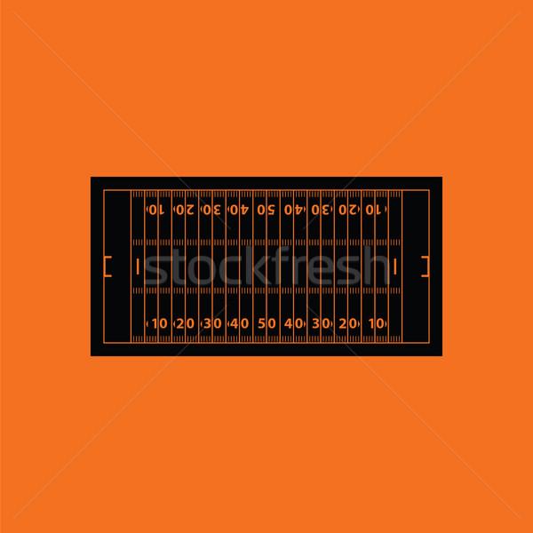 Americano campo de fútbol icono naranja negro Foto stock © angelp