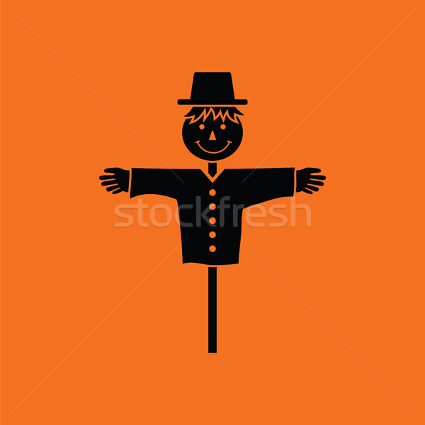Stock photo: Scarecrow icon