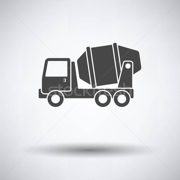 Ikon beton keverő teherautó szürke autó Stock fotó © angelp