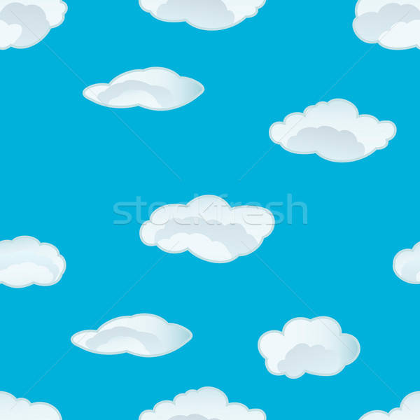 seamless clouds pattern Stock photo © angelp