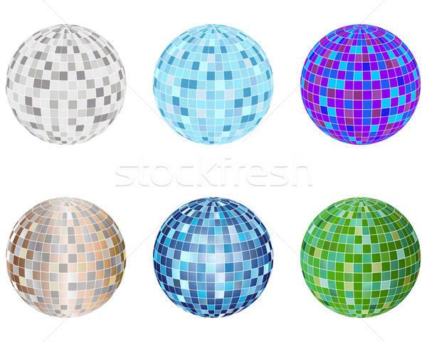 disco spheres set Stock photo © angelp