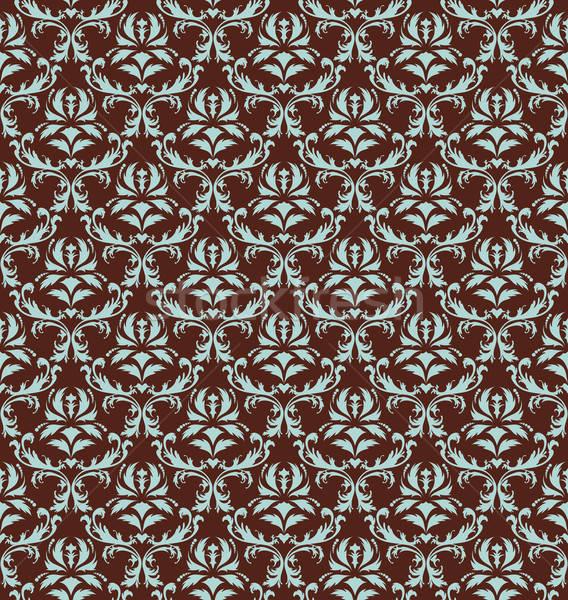 Damaszt végtelen minta végtelenített vektor minta könnyű Stock fotó © angelp