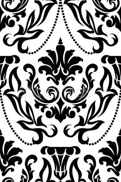 ダマスク織 eps 10 デザイン 葉 ストックフォト © angelp