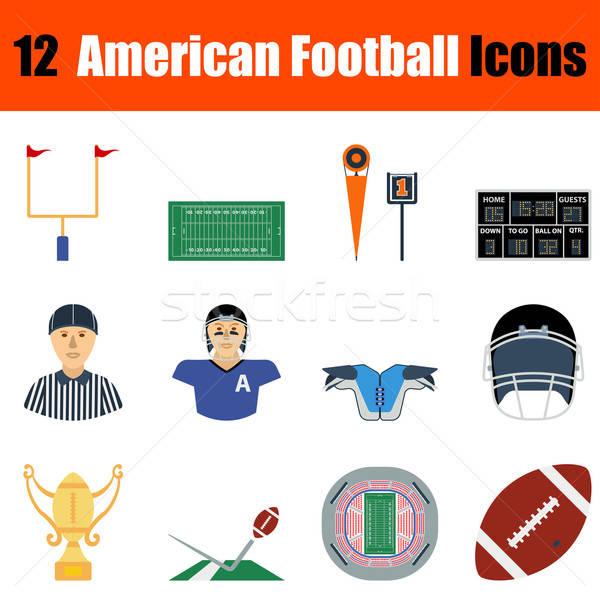 Foto stock: Americano · fútbol · icono · diseno · ui