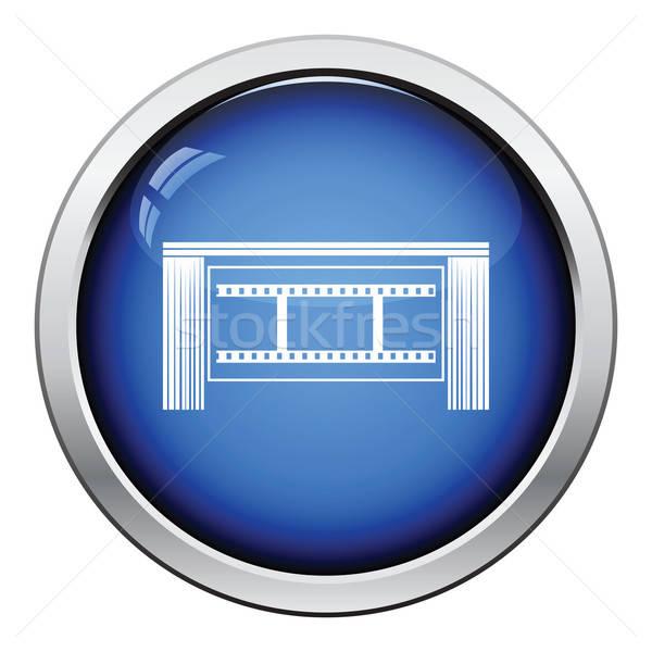 Sinema tiyatro oditoryum ikon parlak düğme Stok fotoğraf © angelp