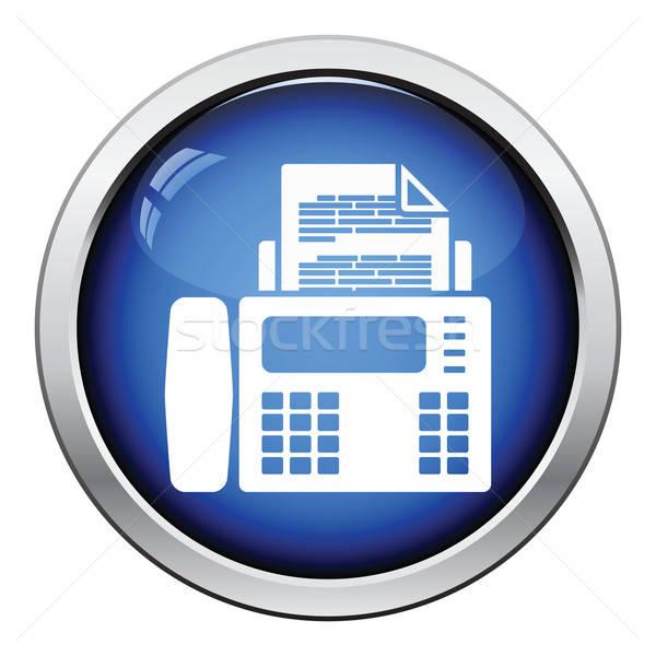 Fax icône bouton design ordinateur Photo stock © angelp
