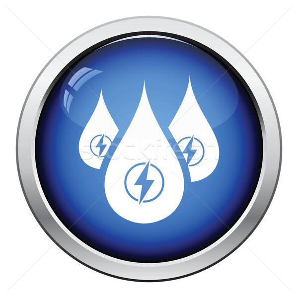 Hydro energy drops  icon Stock photo © angelp