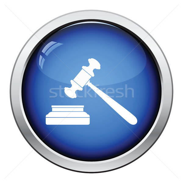 Foto stock: Juiz · martelo · ícone · botão · projeto