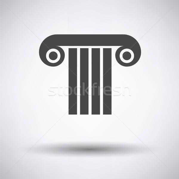 Antique column icon Stock photo © angelp