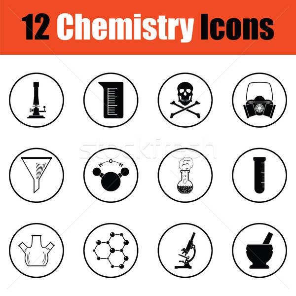 Stock photo: Chemistry icon set