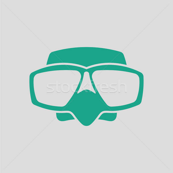 Icon of scuba mask  Stock photo © angelp