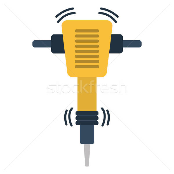 Icon of Construction jackhammer Stock photo © angelp