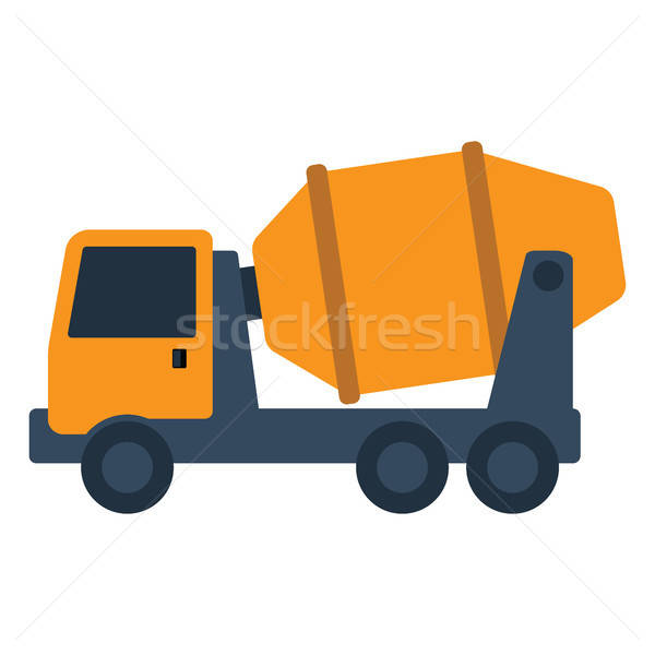 икона конкретные смеситель грузовика цвета дизайна Сток-фото © angelp