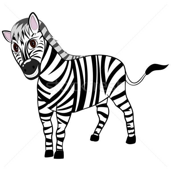 Funny Cartoon Zebra Stock photo © angelp