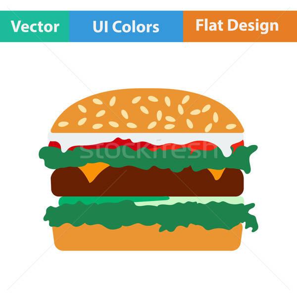 Design icona hamburger ristorante cena carne Foto d'archivio © angelp