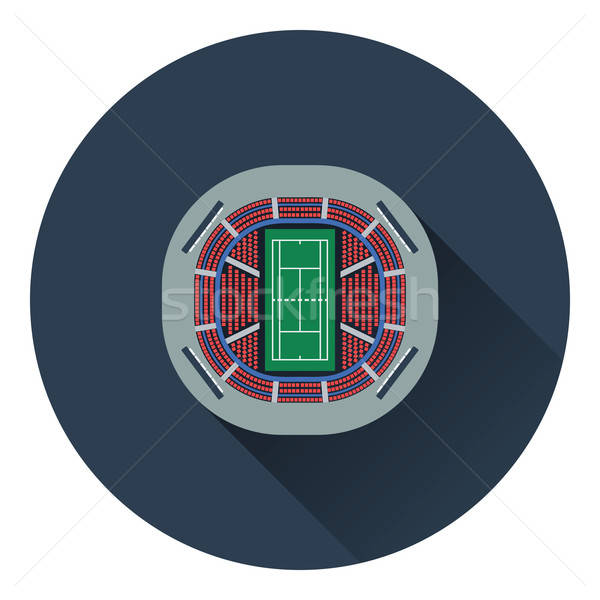 Tennis stadium aerial view icon Stock photo © angelp