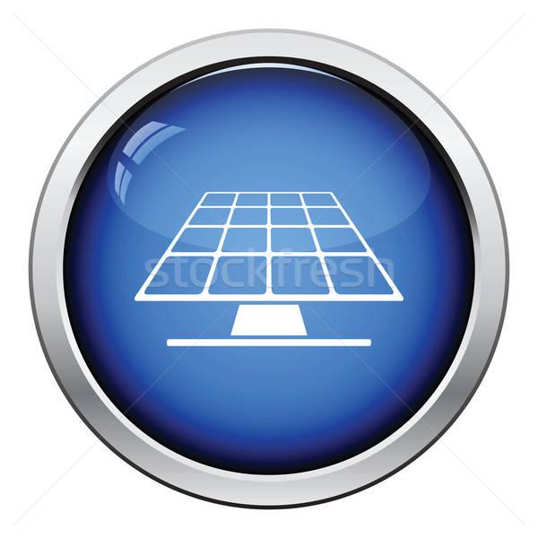 Energia solar painel ícone botão projeto Foto stock © angelp