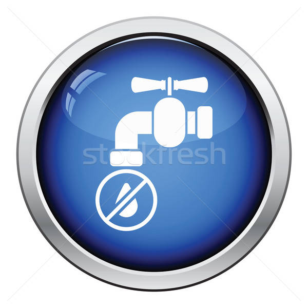 Water faucet with dropping water icon Stock photo © angelp