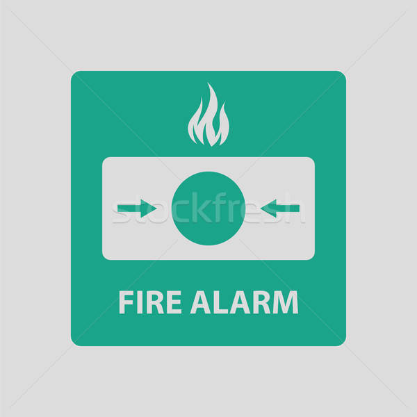 Fire alarm icon Stock photo © angelp