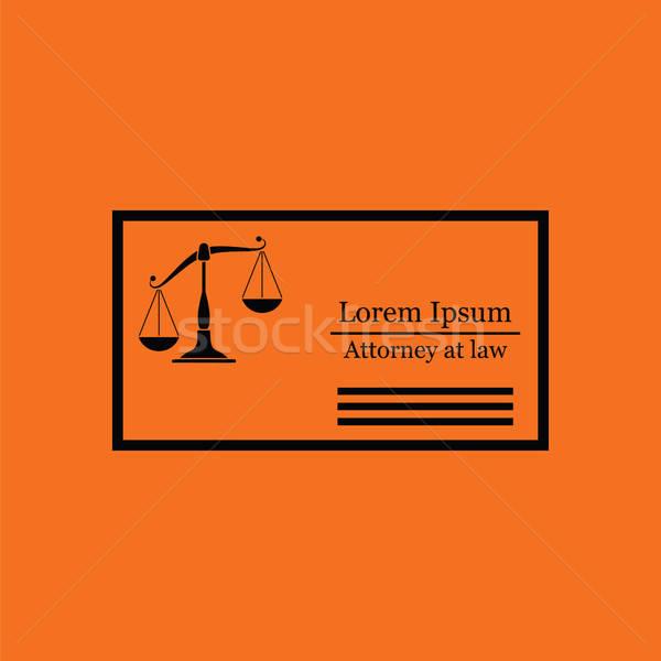 адвокат визитной карточкой икона оранжевый черный бизнеса Сток-фото © angelp