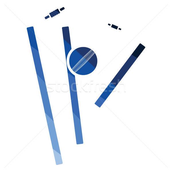 крикет икона цвета дизайна древесины области Сток-фото © angelp