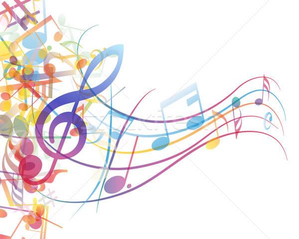 Note personale vettore note musicali design abstract Foto d'archivio © angelp