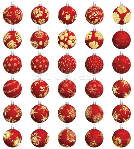 クリスマス ボール セット 抽象的な ストックフォト © angelp
