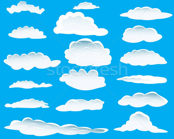 clouds set Stock photo © angelp