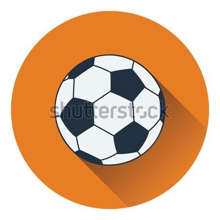 икона футбола мяча цвета дизайна бумаги Сток-фото © angelp