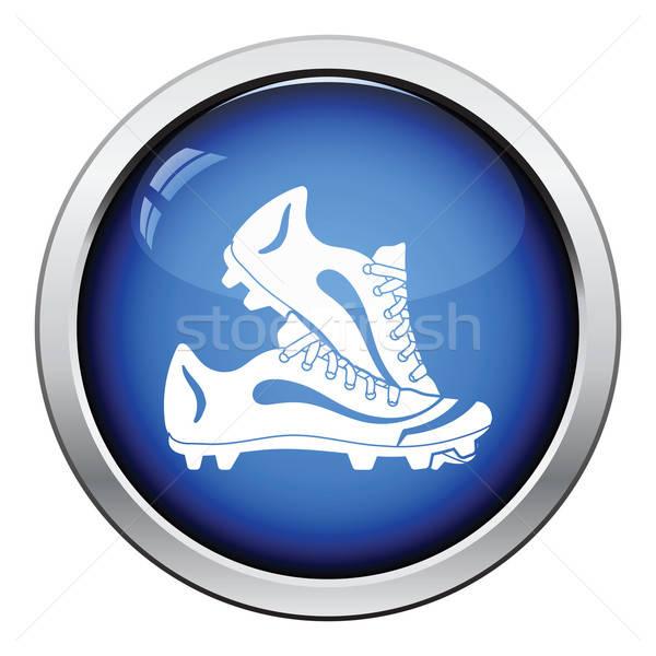 Baseball boot ikona przycisk projektu Zdjęcia stock © angelp