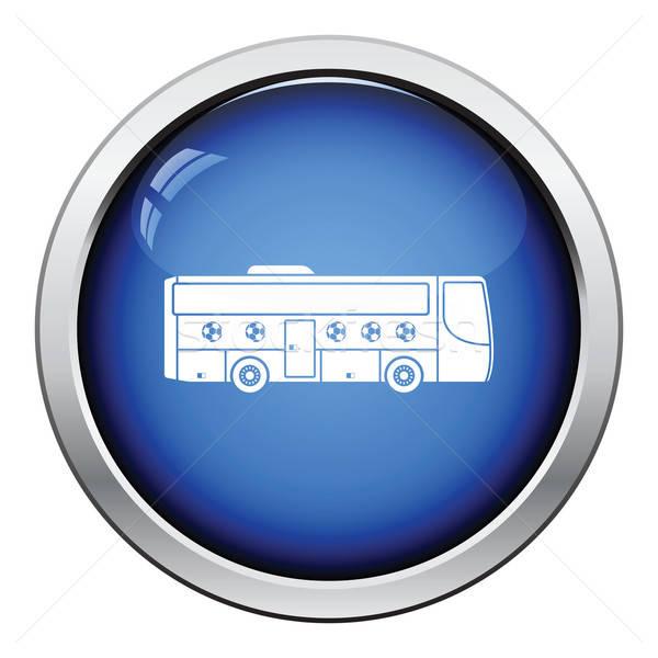 Football fan bus icon Stock photo © angelp