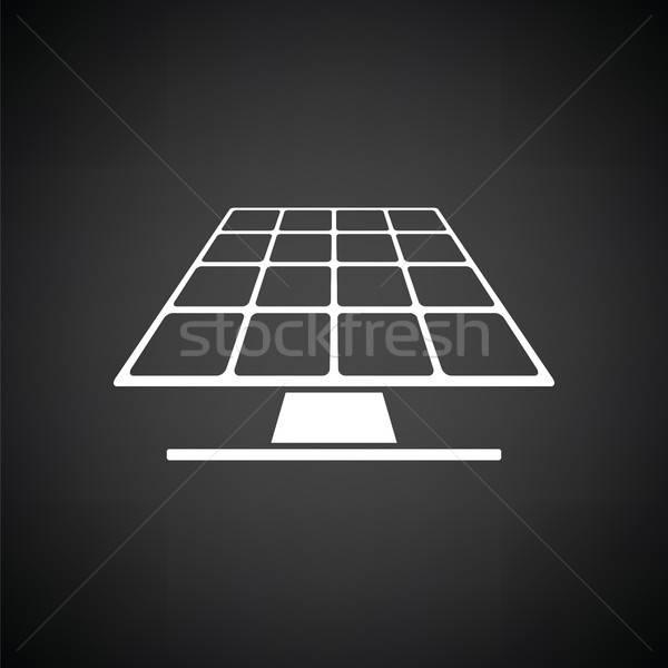 Energia solar painel ícone preto e branco sol natureza Foto stock © angelp